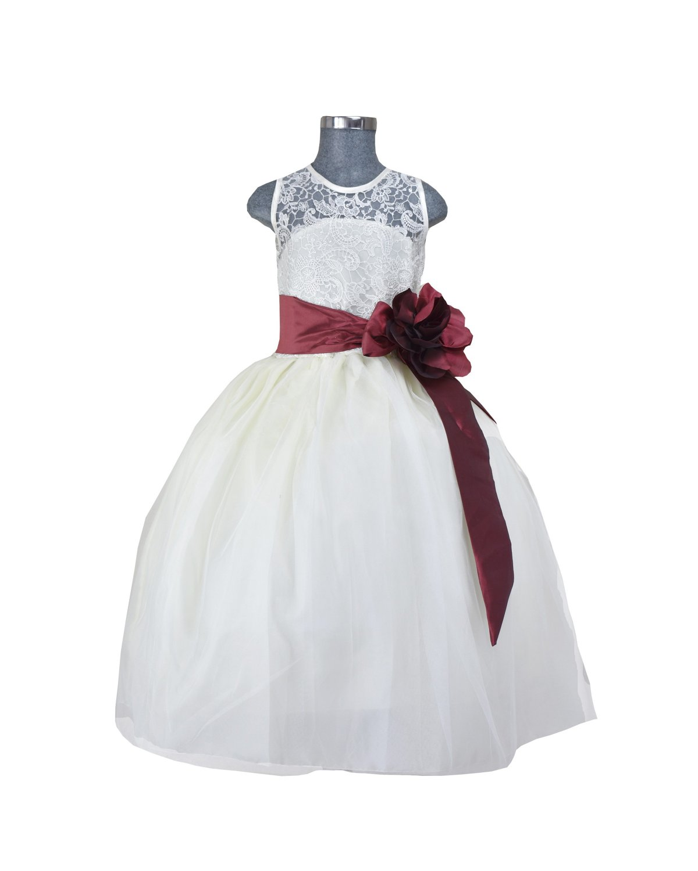 Vestido de niña Modelo Yulissa Fajo de color