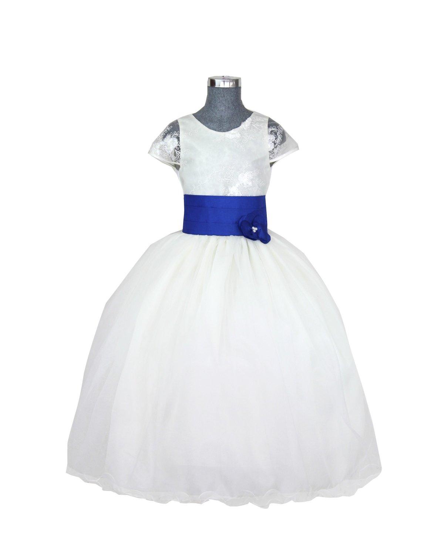 Girl dress Model Rosy Belt with Color